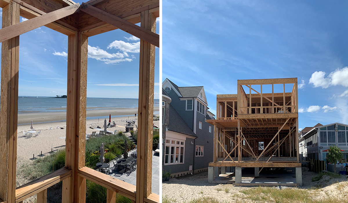Great Creek Oceanfront custom residential home construction in Milford,CT