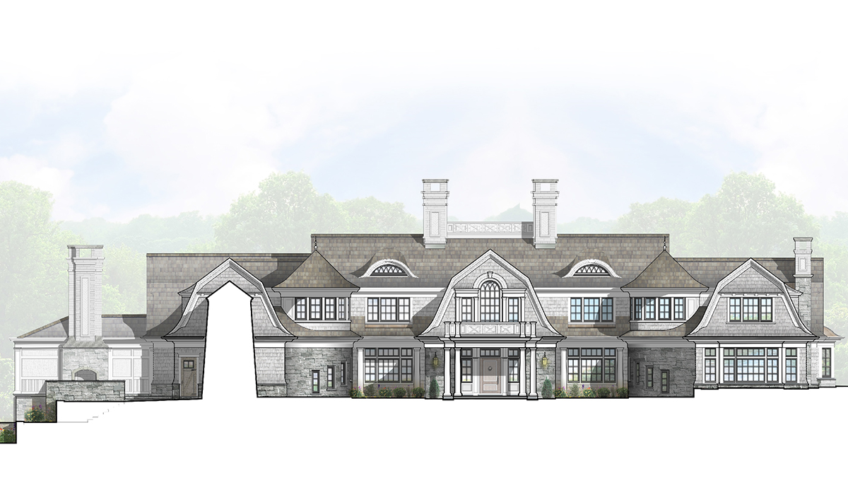 Home Design Plans In Armonk Ny 10504 Cardello Architects