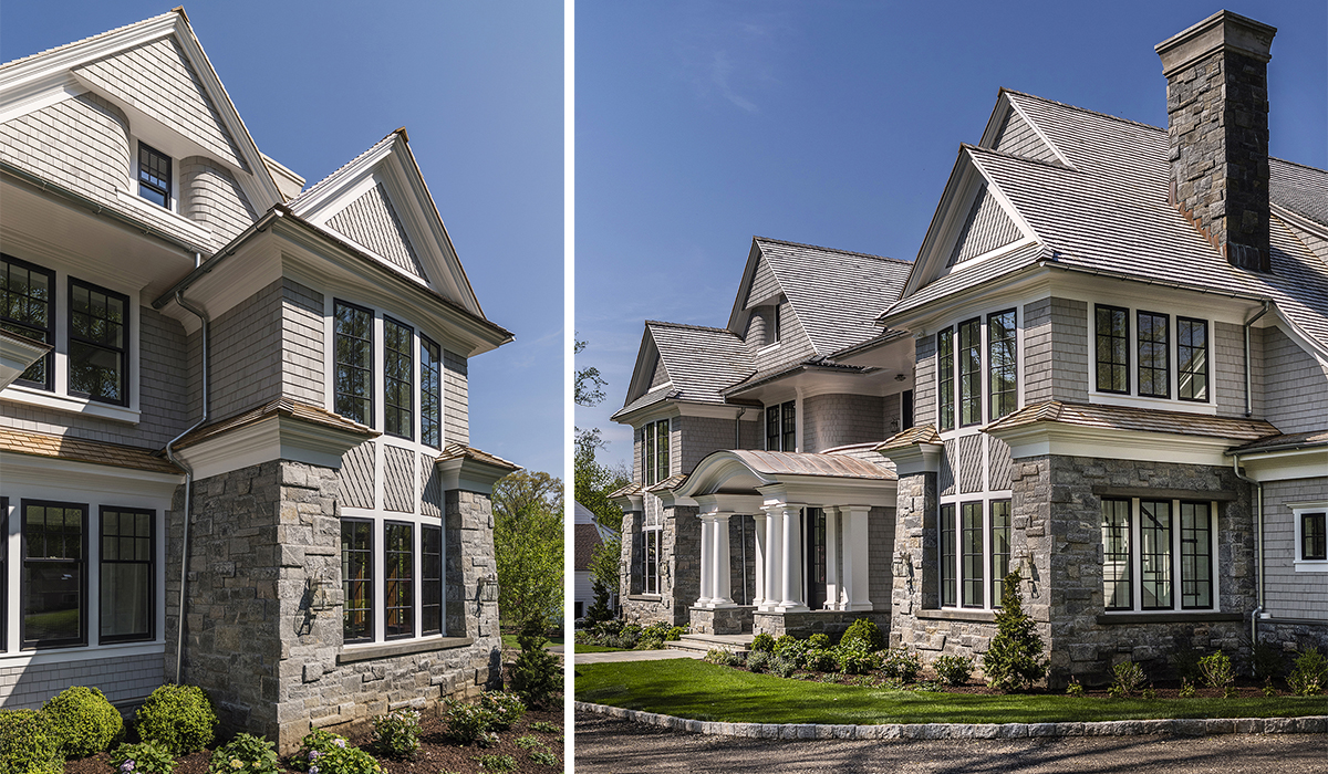 Traditional Shingle Style Home design with custom details by Cardello Architects