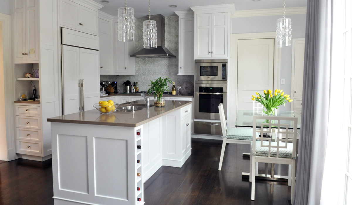 kitchen by cardello architects in new england cottage