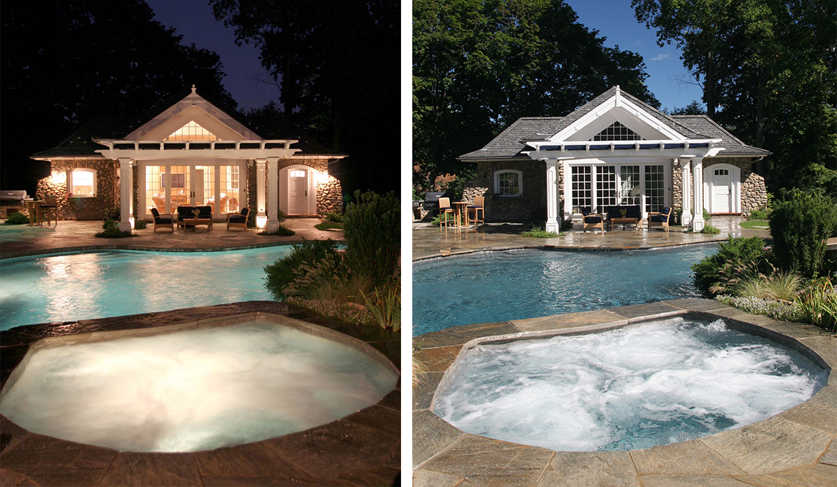 Pool house cottage house plans darien ct cardello architects