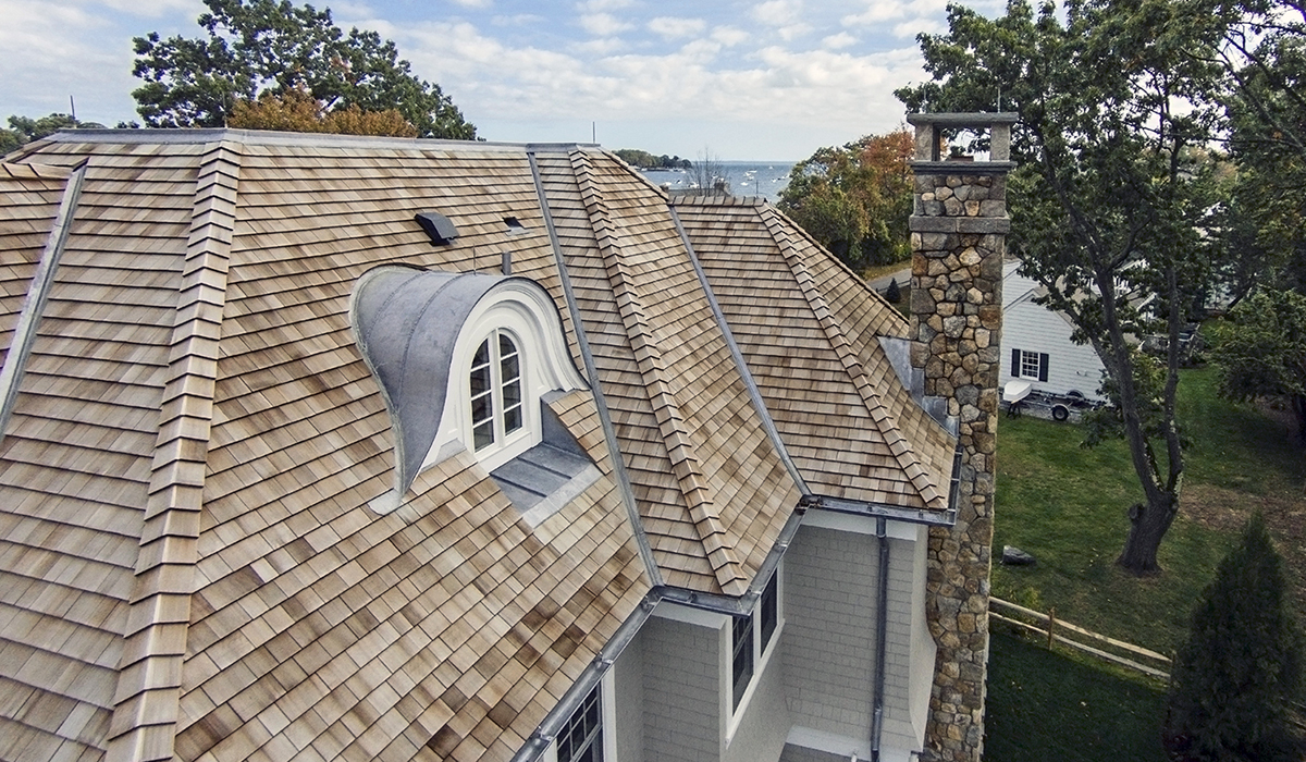 waterfront shingle style gambrel by cardello architects