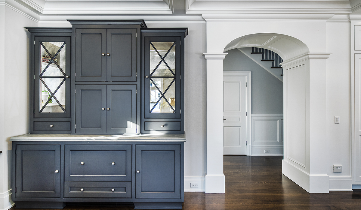 custom butlers pantry in shingle style home by cardello architects