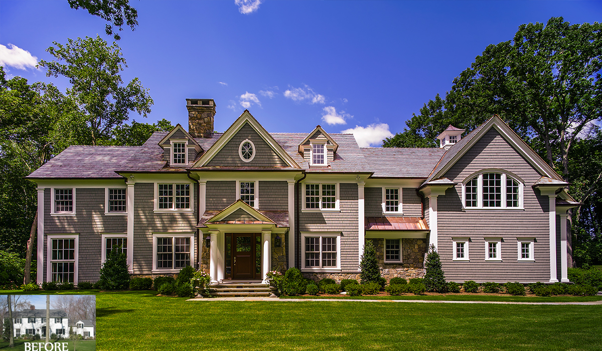 Colonial Style Home Renovation Darien Ct Cardello Architects
