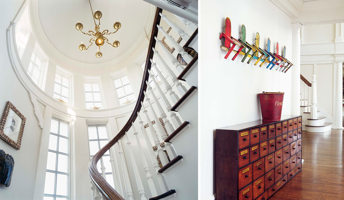 custom paneled stair tower by cardello architects