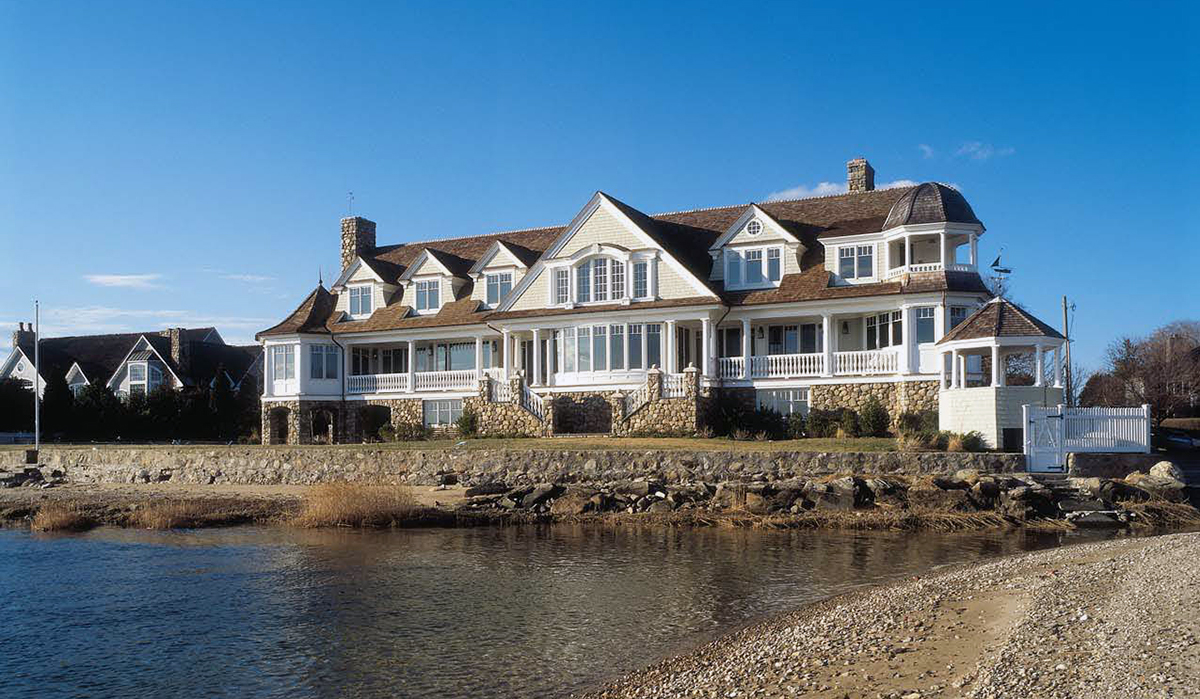 Darien connecticut waterfront luxury home design by cardello architects