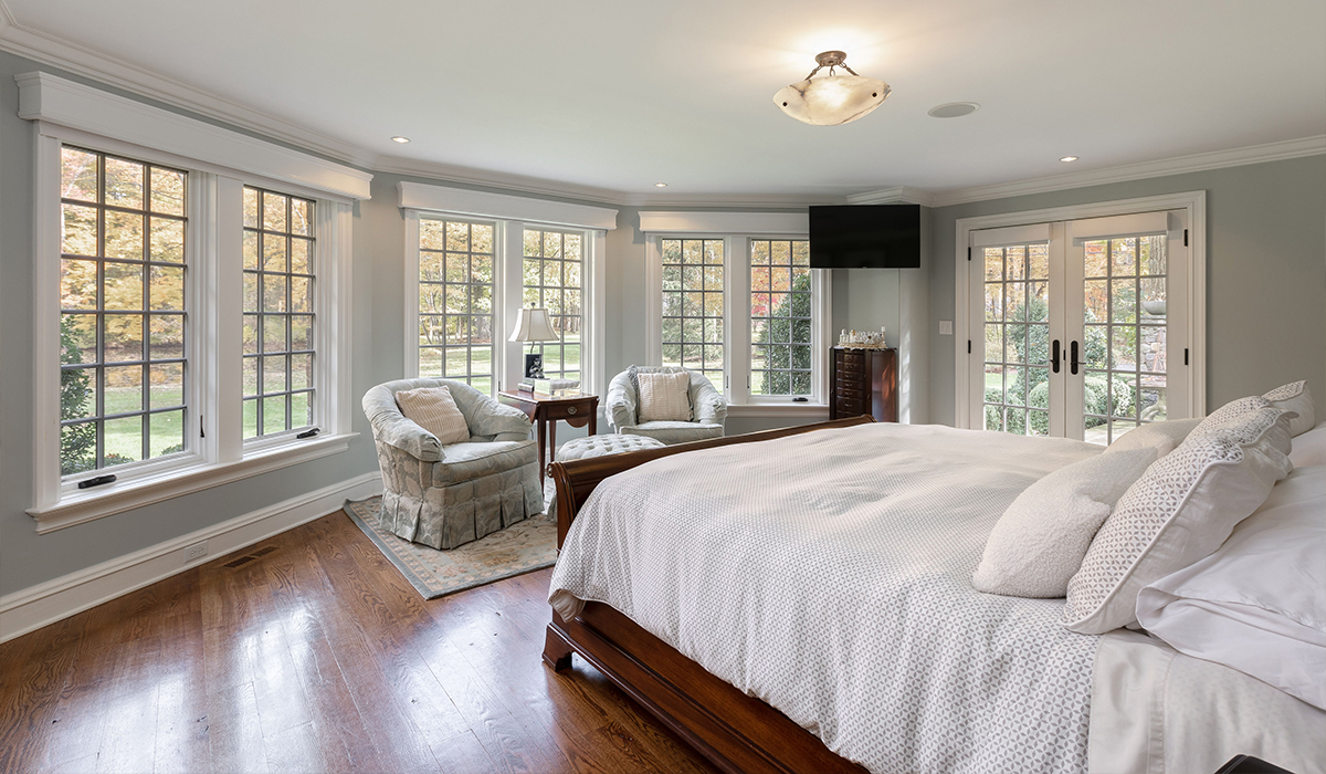 Fairfield Connecticut traditional residence on the water master bedroom renovation