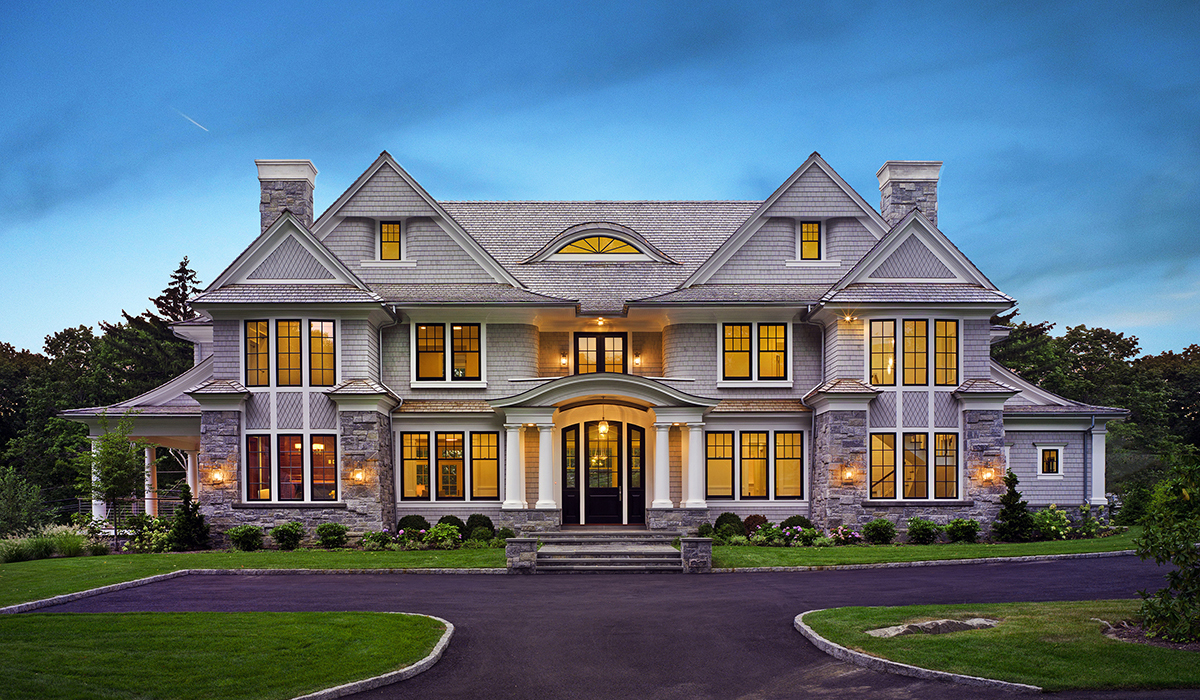 Modern design shingle style residence in greenwich ct for Ct home builders