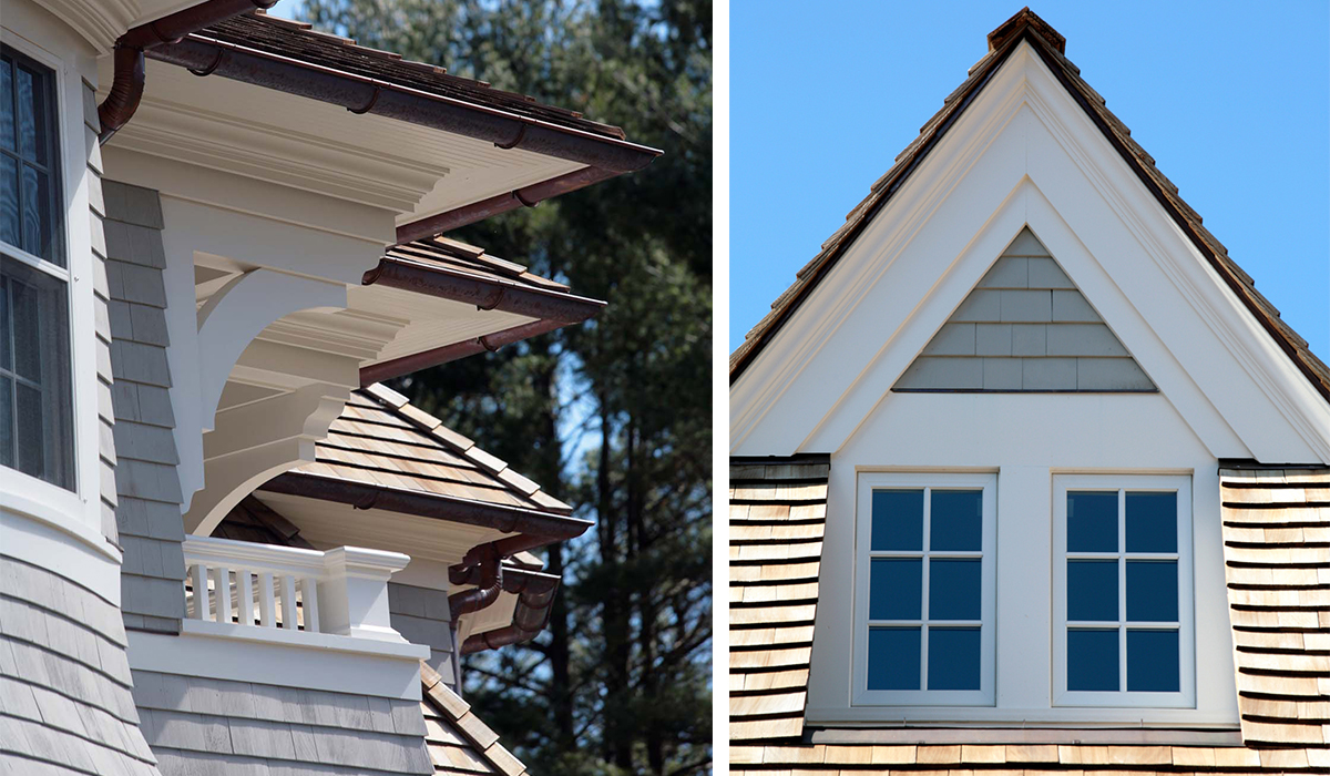 custom details and rooflines by luxury architect in darien, ct by cardello architects