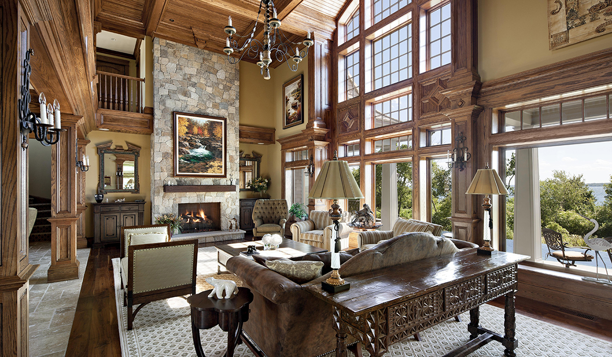 Great hall great room in luxury Portsmouth Rhode Island waterfront home