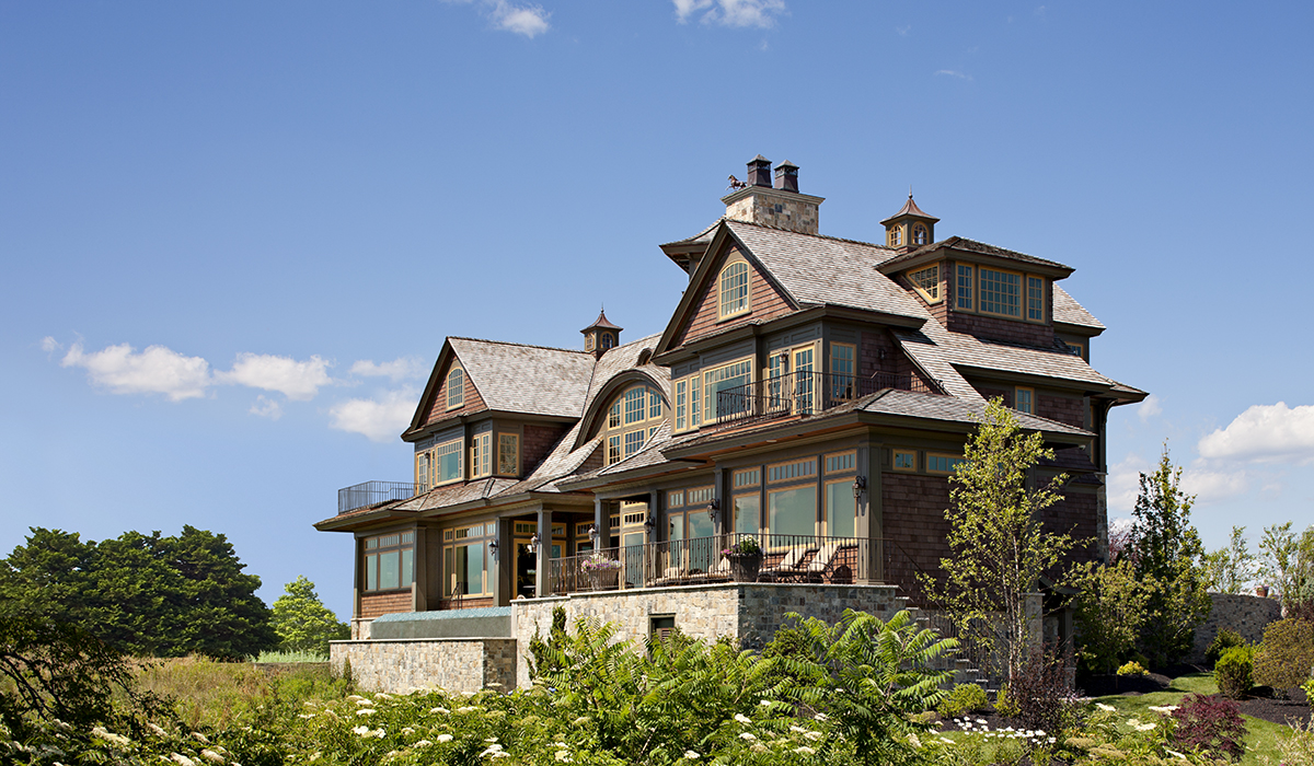 Portsmouth Rhode Island luxury custom home design of waterfront home