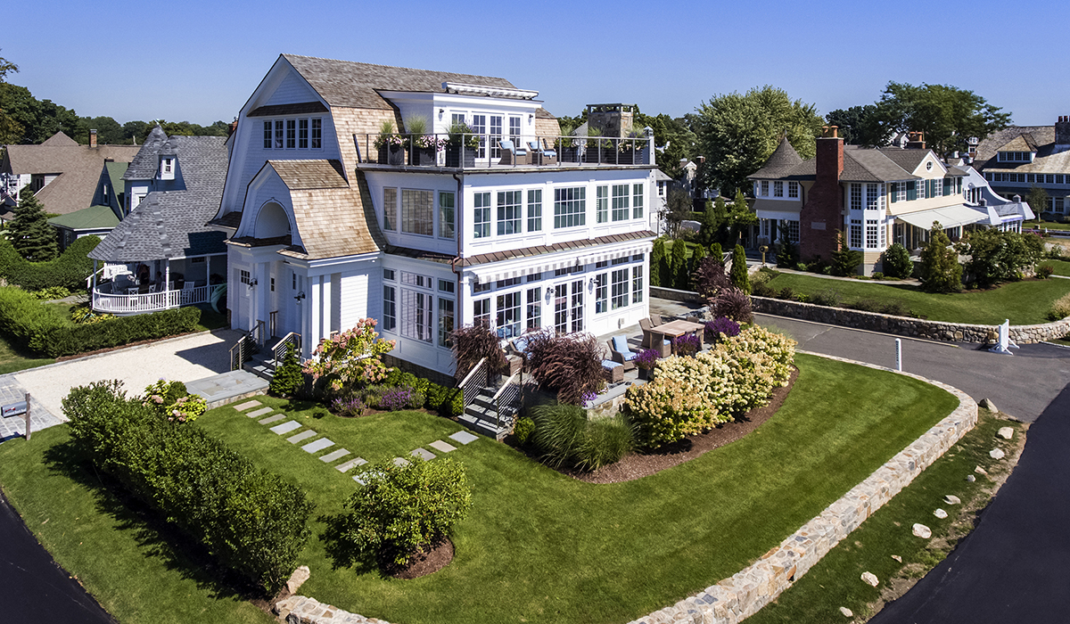 Rowayton connecticut custom home design for luxury waterfront beach house