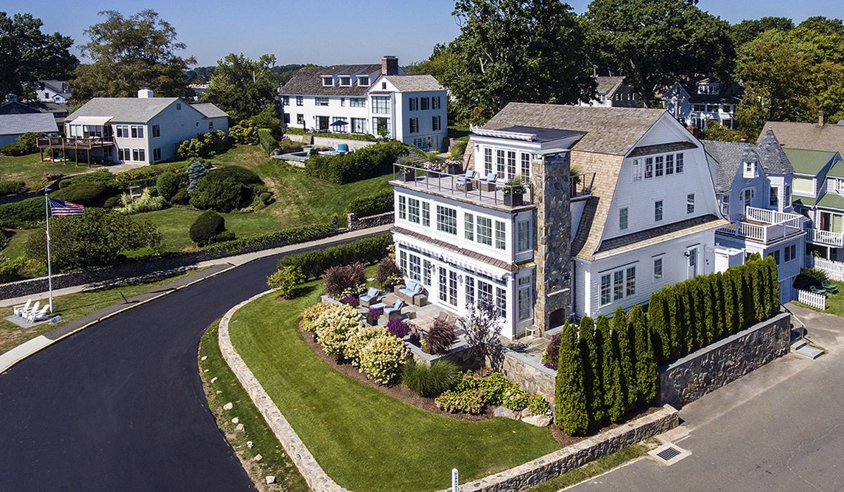 Rowayton connecticut custom home renovation to beach house on waterfront