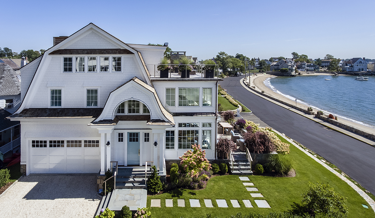 Luxury house plans with custom beach house in darien ct 06853 crescent beach retreat in rowayton ct 06853 sciox Choice Image