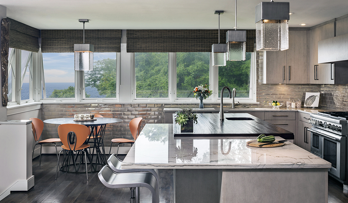 modern waterfront kitchen by cardello architects