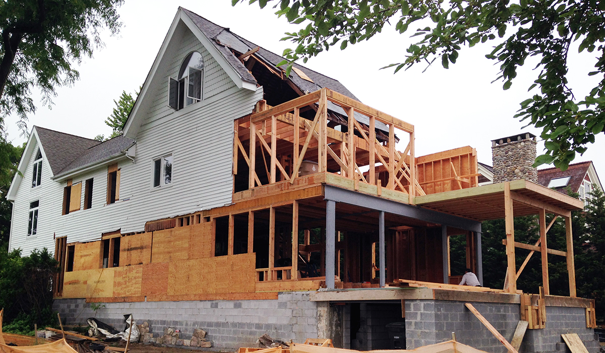 Stamford connecticut waterfront home under construction