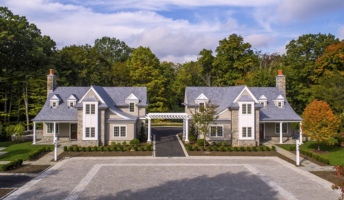 commercial developent on Knobel Hill in Darien CT with cottage designs by cardello architects