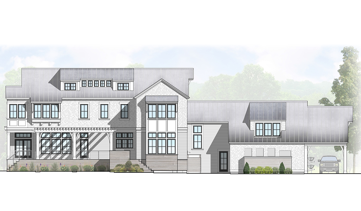 Norwalk connecticut luxury home design of waterfront home by award winning cusotm home residential architect