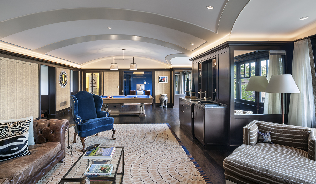 vaulted ceilings of attic home office in luxury home design y award winning residential architect