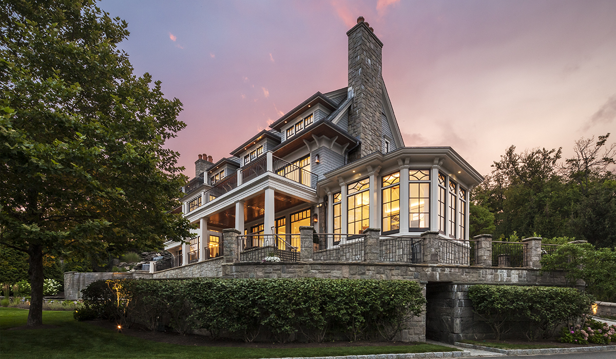 Greenwich Conecticut luxury home design of renovation to waterfront property