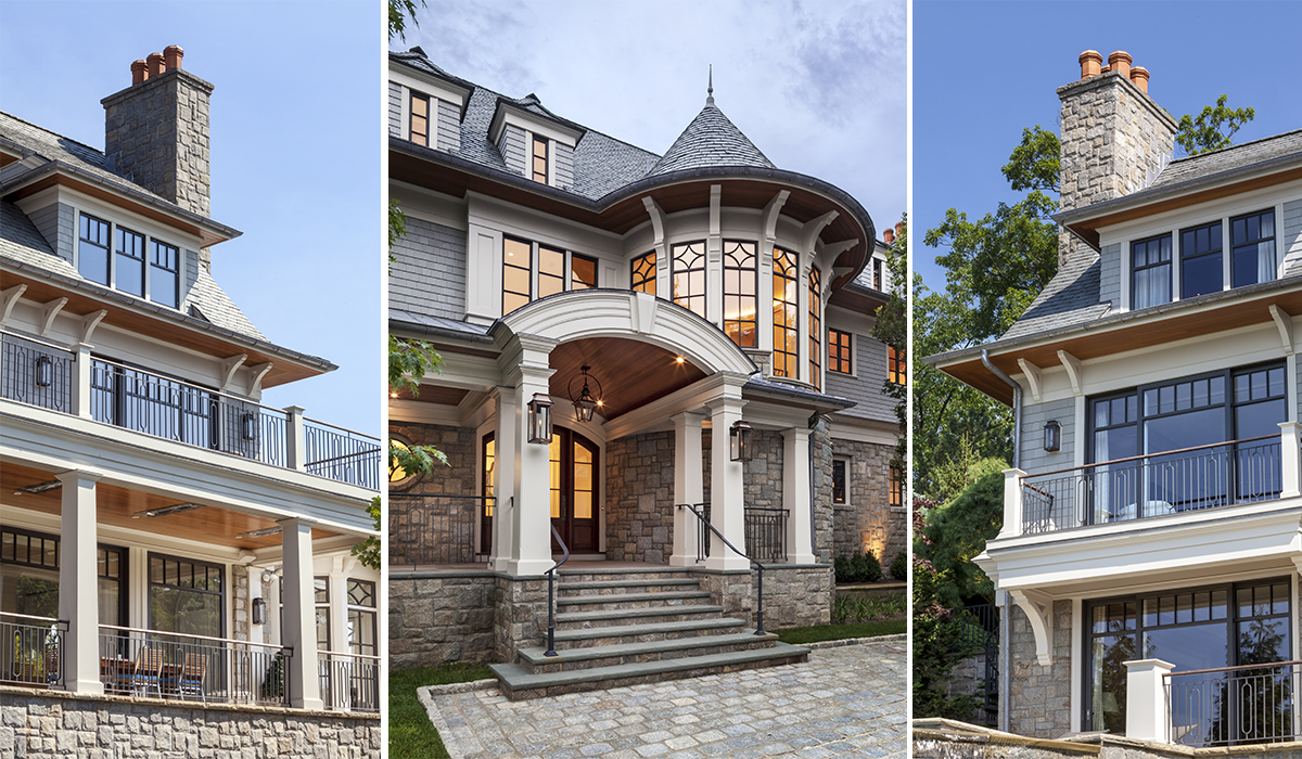 Luxury home renovation of custom million dollar home in Greenwich Connecticut on waterfront property