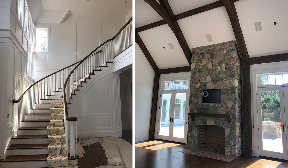 westport connecticut shingle style home interior construction