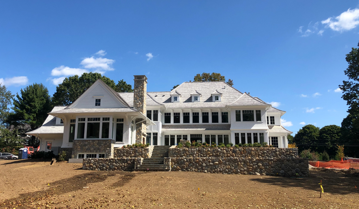 WEstport Connecticut shingle style home new construction custom design by luxury architect