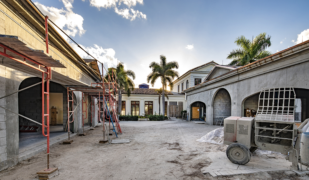 Jupiter Florida luxury home renovation and addition with CMU block and stucco exterior