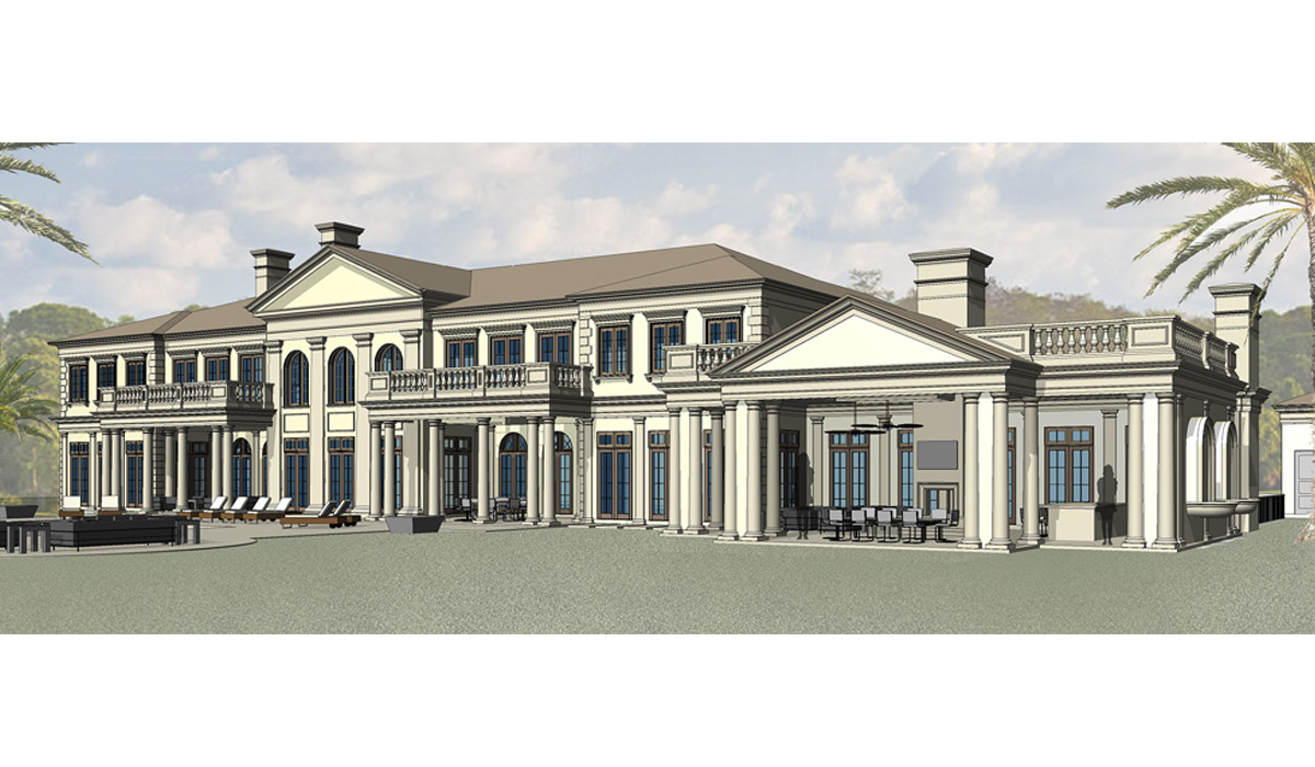 Jupiter florida luxury custom home renovation 3D rendering