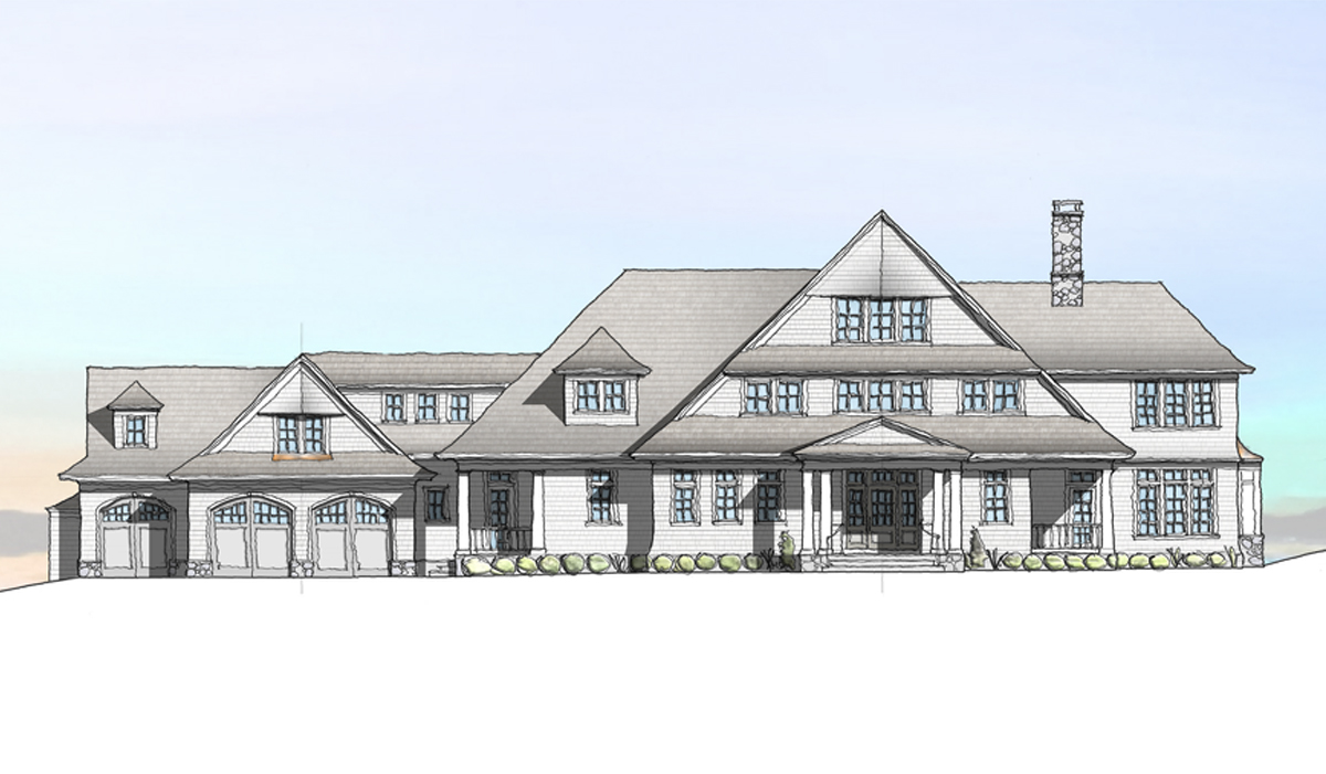 Madison connecticut CT custom beach house front elevation