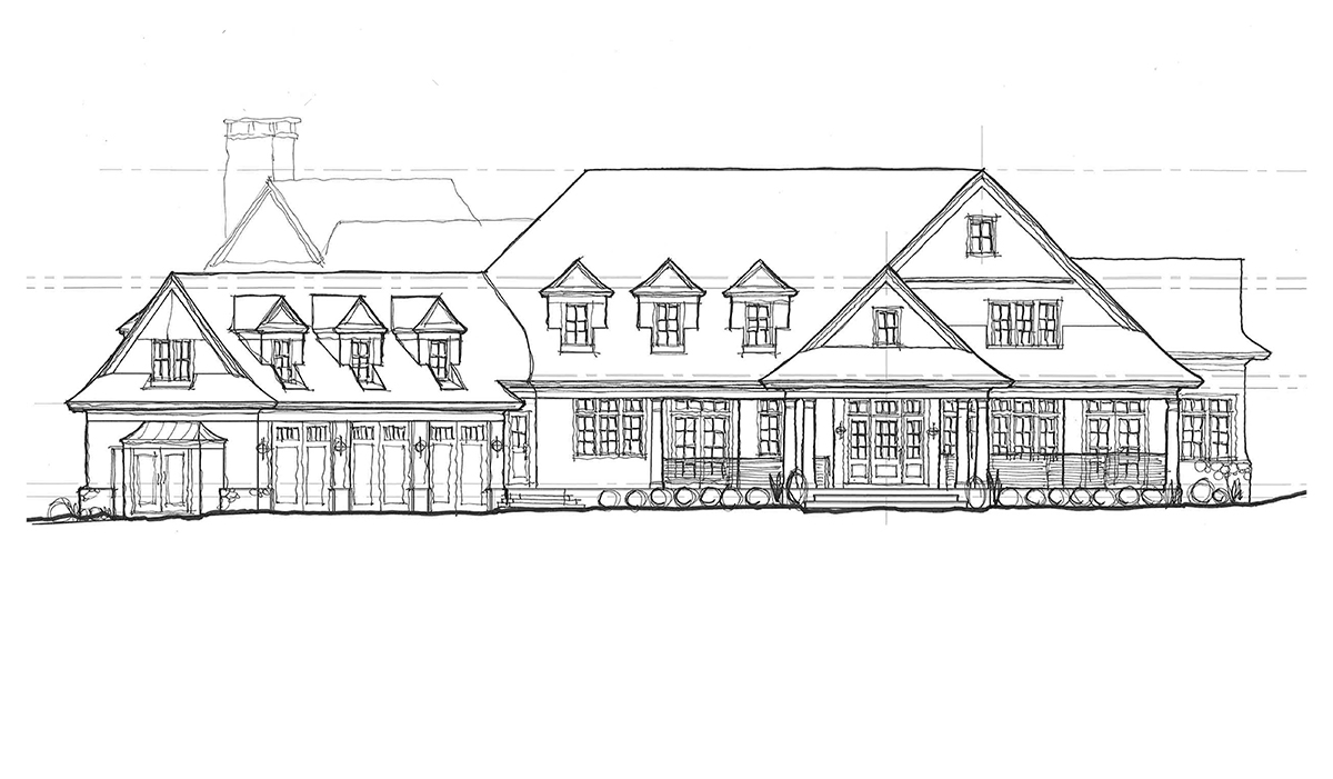 Mill pond shingle style waterfront home with butterfly plan in westchester county