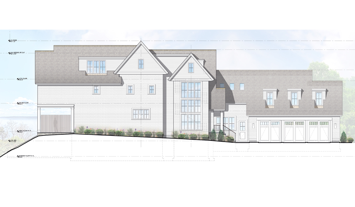 Bluff Avenue Farmhouse in Rowayton Ct renderings by award winning architect