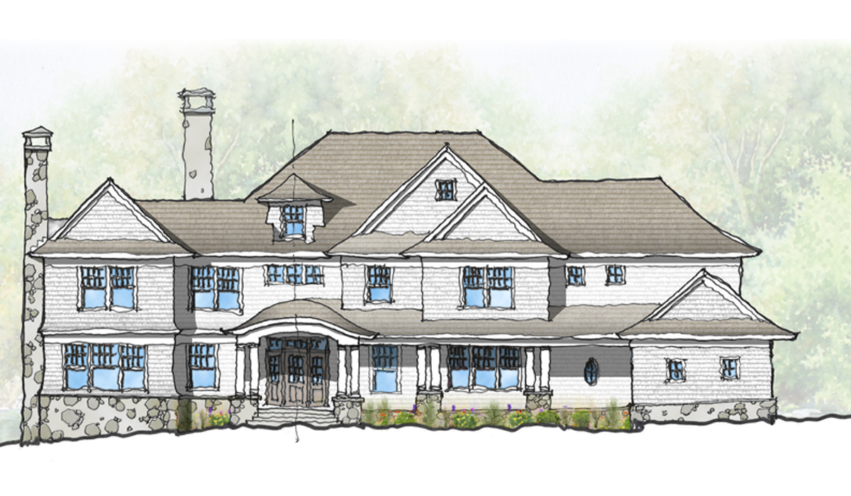 Rowayton,CT Connecticut custom home design by luxury award winning architect